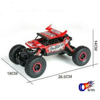 RC MOBIL OFFROAD CLIMBING CAR LEADER SCALE 1:18 4WD 2.4Ghz MERAH