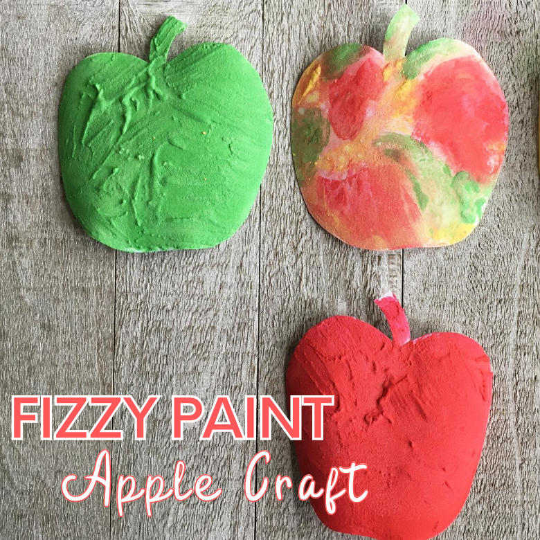 Fizzy paint apple craft