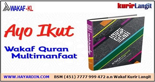 Wakaf Al Quran Multimanfaat Kurir Langit