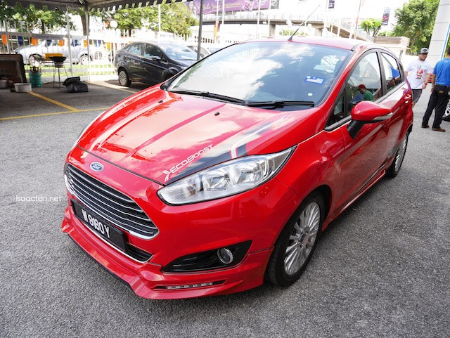 The Ford Fiesta 1.0L looking sweet in red