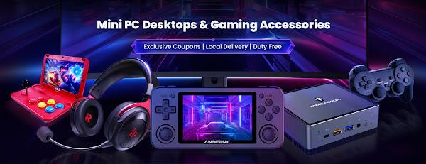 Promoção Mini Pcs e acessórios Gaming na Geekbuying