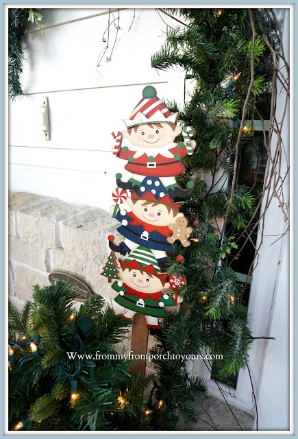 Cottage- Farmhouse -Christmas -Porch-Wooden-Elves -From My Front Porch To Yours
