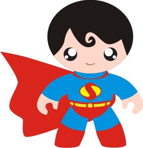 Adorable Clip Art de Super Héroes Bebés.