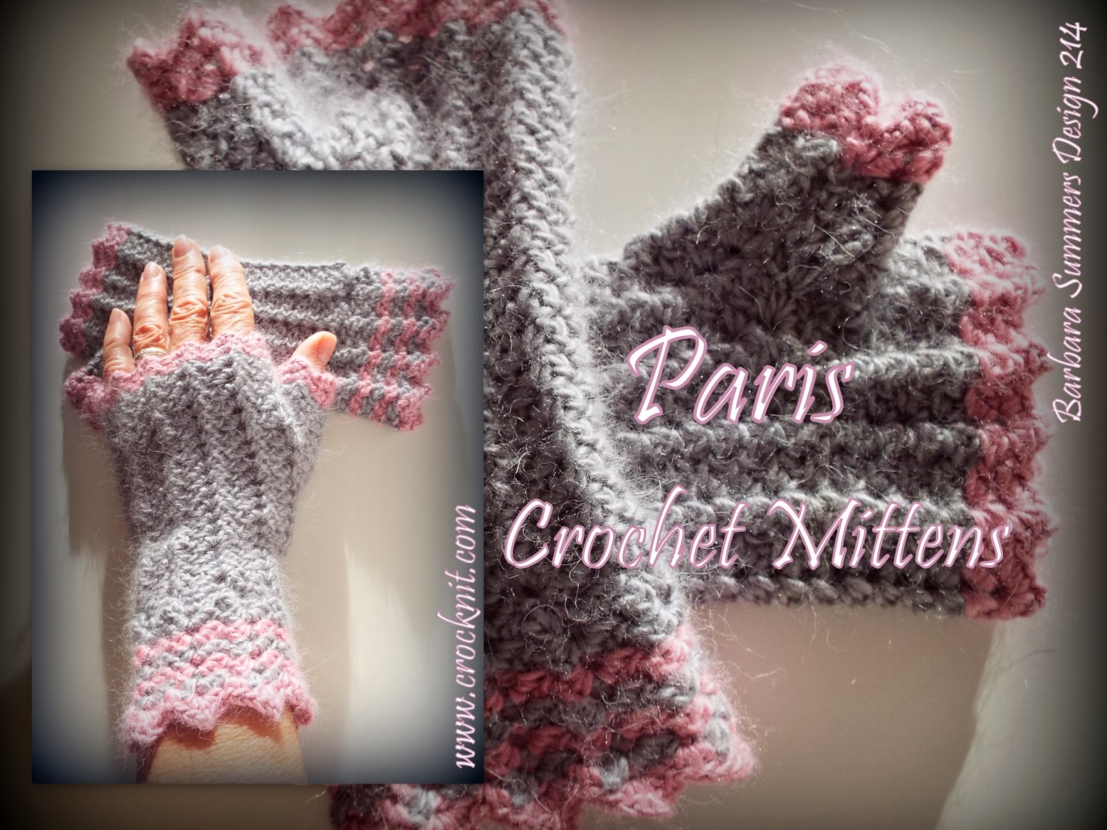 how to crochet, crochet patterns, mittens, fingerless, women