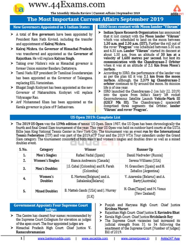 ADDA247-Current-Affairs-September-2019-For-UPSC-Exam-PDF-Book
