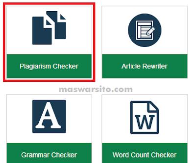 cara mengecek keaslian tulisan atau artikel