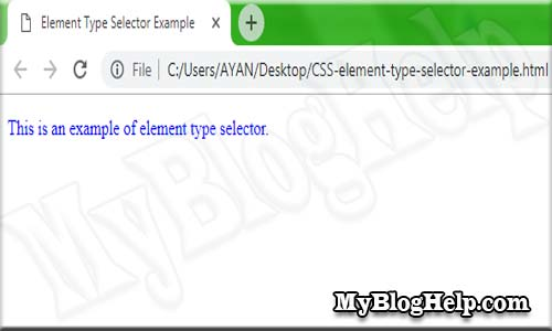 css element type selector