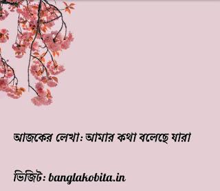 Bangla Kobita-Amar Kotha Bolche Jara
