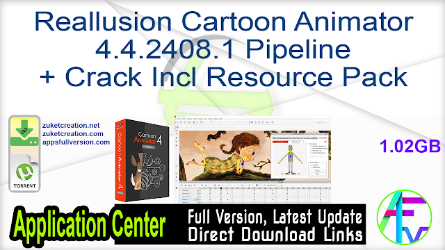 Reallusion Cartoon Animator 4.4.2408.1 Pipeline + Crack Incl Resource Pack