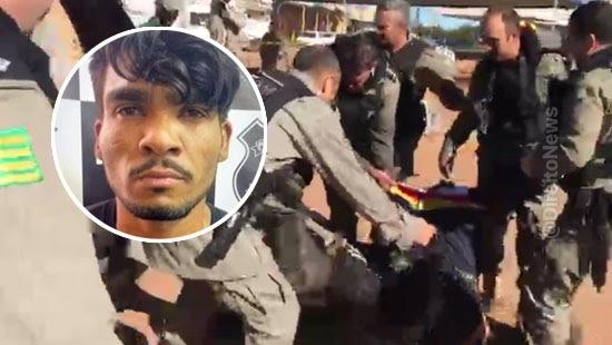 fim cacada lazaro tiros policiais morto