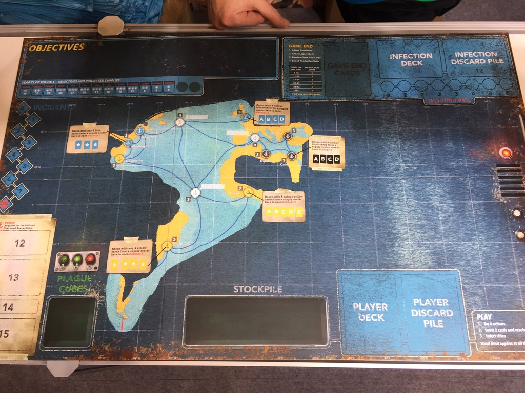 Pandemic Legacy Season 2 board