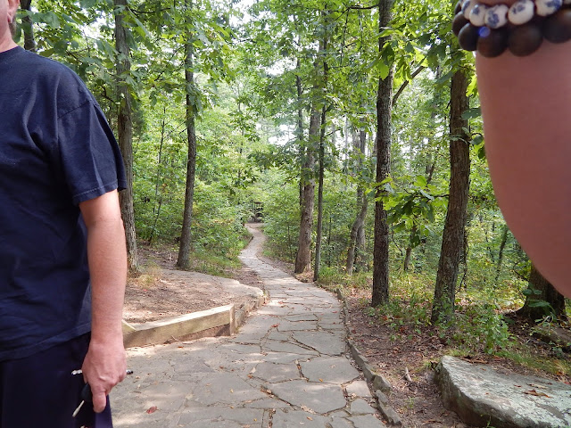 View of the paved trail going through #GardenoftheGods in #ShawneeIllinois National forest