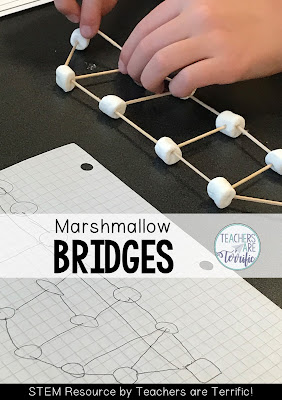 STEM Challenge: Kids use a blueprint to construct a bridge! Easy prep and easy materials!