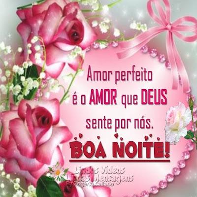 Amor perfeito é o AMOR que DEUS sente por nós. Boa Noite!