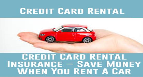 Credit Card Rental Car Insurance