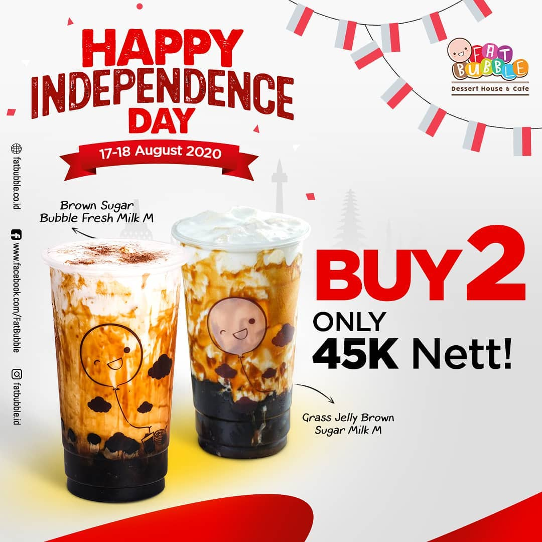 Fat Bubble Promo Merdeka