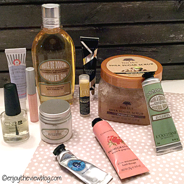 several skincare products sitting on a table
