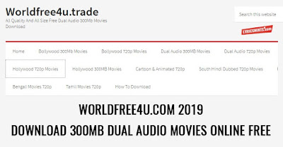 Worldfree4u 2019 - All movies Download 300MB 720p for free