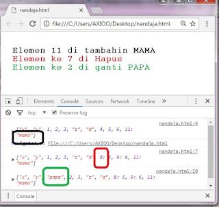 contoh coding dengan array