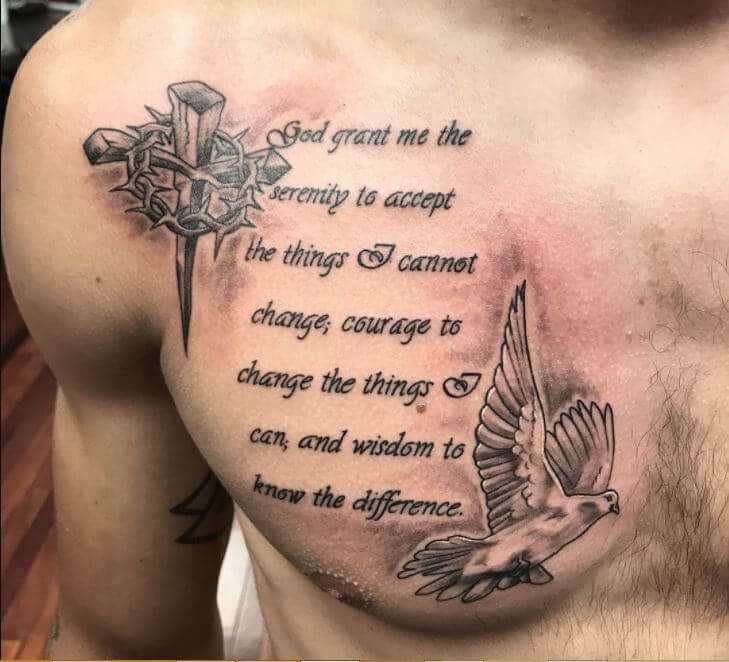 Tattoo Quotes Gallery: 150+ Unique Christian Tattoos For Men (2019)