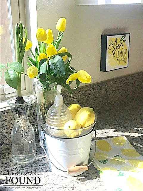 color,color palettes,colorful home,Pantone color of the year,decorating,diy decorating,DIY,farmhouse style,kitchen,seasonal,spring,Illuminating yellow,Pantone 2021,lemons,lemon theme decor,spring decor,kitchen decor,seasonal kitchen decor,yellow kitchen decor,farmhouse spring decor.