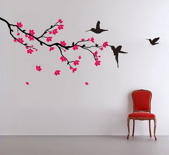 Natural Tree Shapes Wall Paintings Colorful Attractive For Kids Room