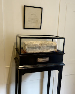 A brick from the Great Wall of China on display on the 2nd floor of Dr Johnson's House Museum © Andrew Knowles