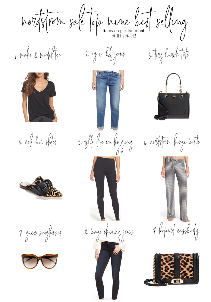 nine best selling nordstrom anniversary sale 2018 items