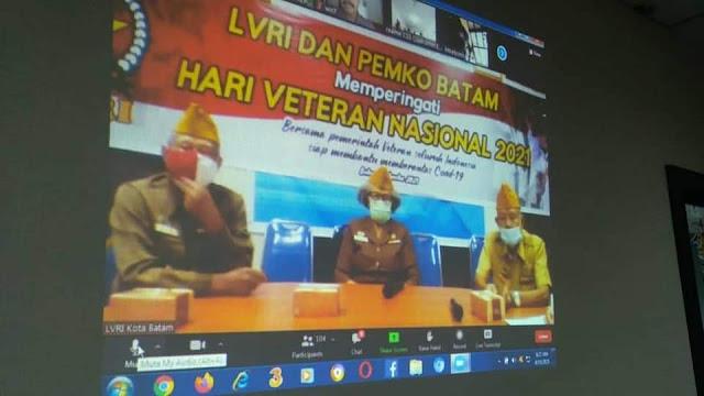 Akibat Pandemi Covid-19, Pemko Batam dan LVRI Memperingati Hari Veteran Nasional Secara Daring