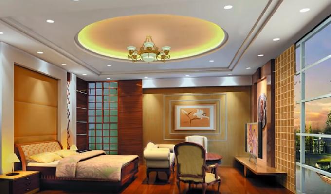 ديكورات جبس سقف غرفة النوم لكل المساحات وبتكاليف مختلفة، مع الألوان المناسبة لكل ديكور