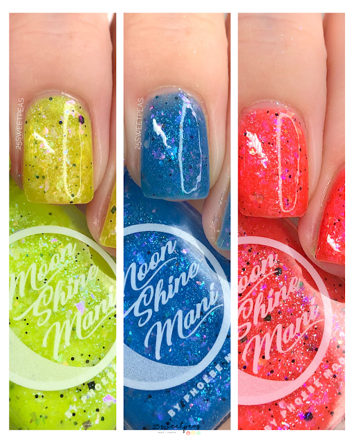 Moon Shine Mani Summer Camp BFFs Trio