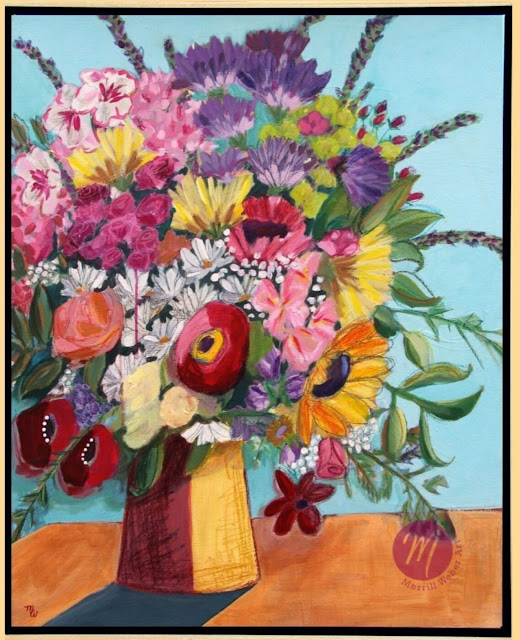 Floral-painting-by-Merrill-Weber