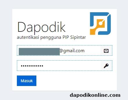 Masukkan Username/Email dan Passwordnya, kemudian klik Masuk