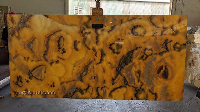Onyx Yellow Slab Translucent