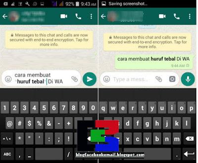 cara membuat huruf tebal di WhatsApp (WA)
