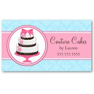 Gourmet Cake Bakery Business Cards