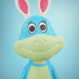 Karakter Lincul pada animasi 3D musik dan lagu anak Indonesia Hoala dan Koala