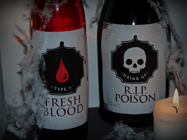 etykiety na butelki halloween
