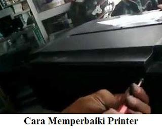 cara memperbaiki printer error