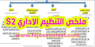 ملخص مبسط لمادة التنظيم الإداري S2