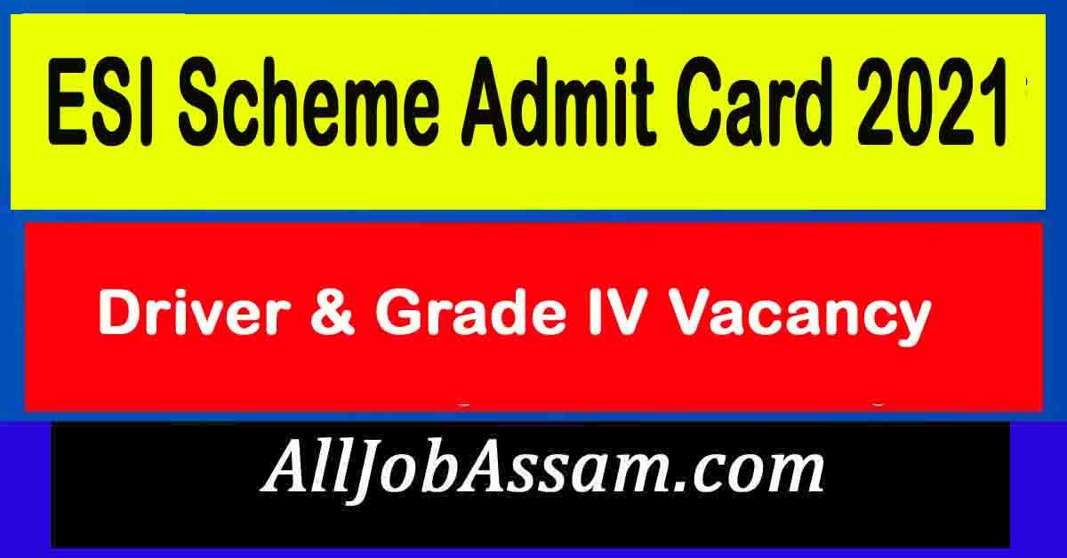 ESI Scheme Admit Card 2021