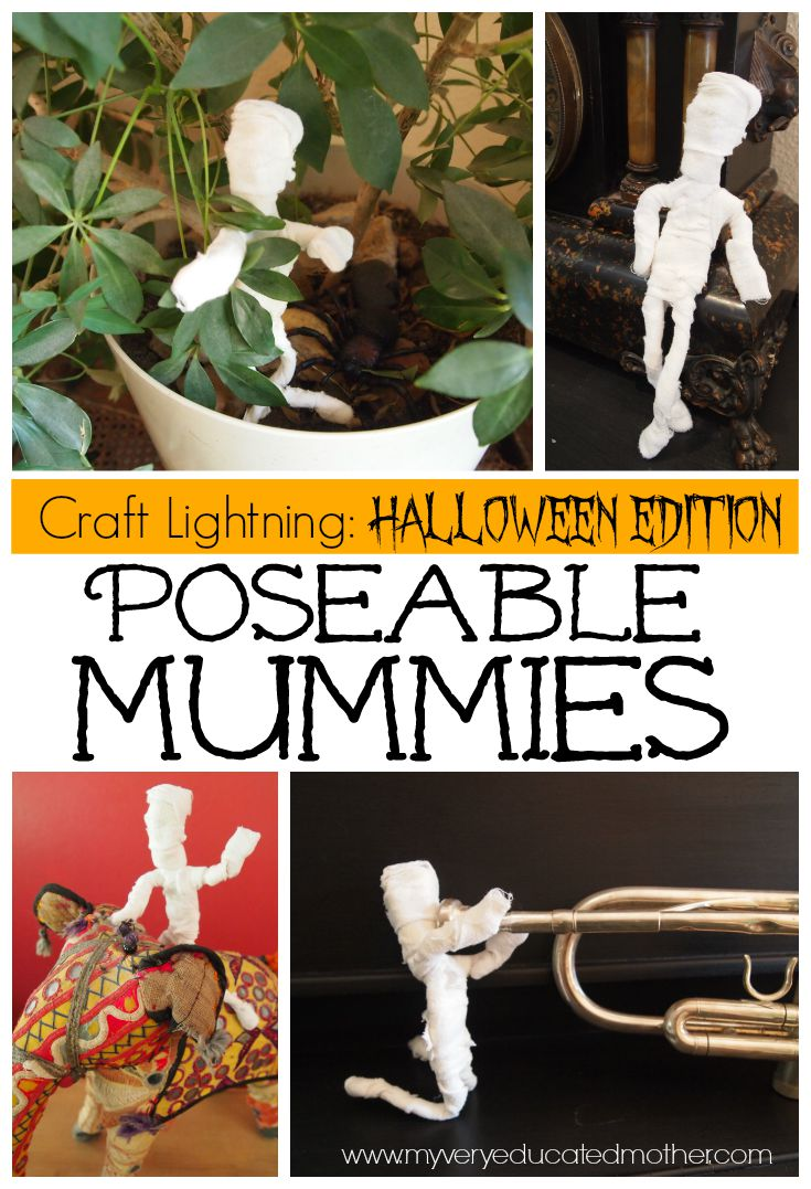 Craft Lightning time again and for this year's Halloween Edition we have poseable mummies!