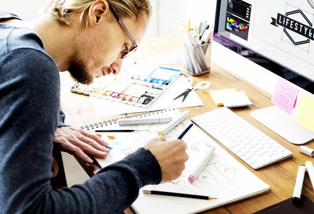jasa desain grafis profesional murah terpercaya pusat printing brosur logo kalender company profile flyer katalog desainer indonesia online