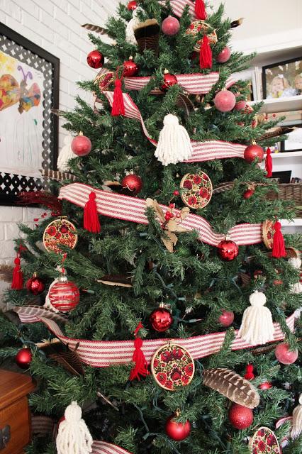 Embroidery hoop ornament DIY