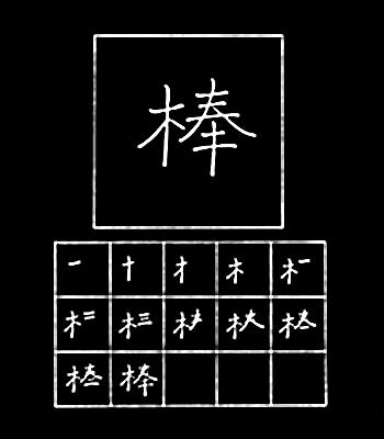 kanji rod, stick