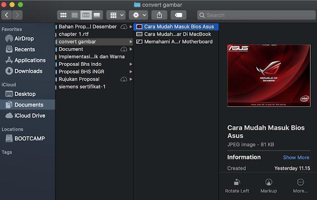 Cara Mudah Merubah Format Gambar Di MacBook