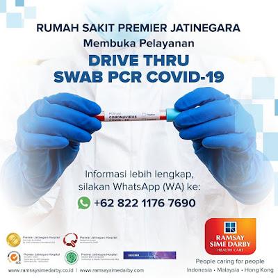 Rumah Sakit Premiere Jatinegara Buka Layanan Drive Thru Swab PCR Covid-19
