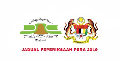 Jadual Peperiksaan PSRA 2019 Penilaian Sekolah Rendah Agama