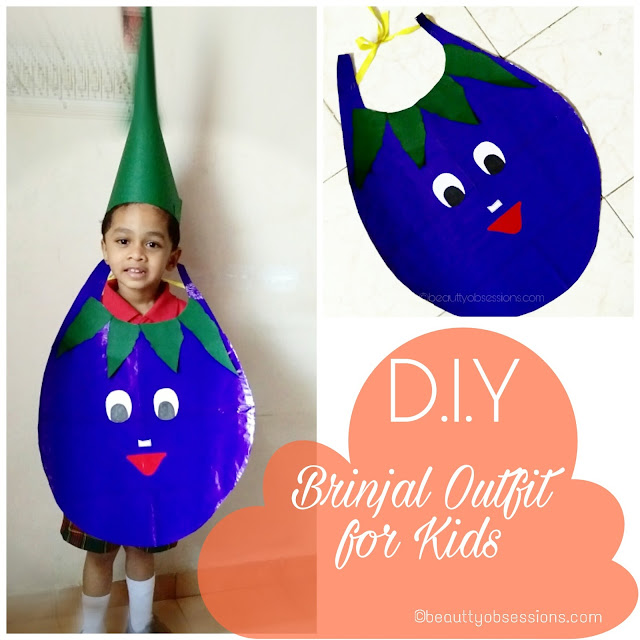 D.I.Y - Brinjal Outfit For Kid (Fancydress at School)