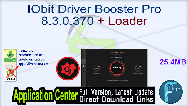 IObit Driver Booster Pro 8.3.0.370 + Loader